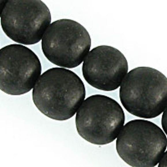 Resin 18mm rnd matt Black 20pcs