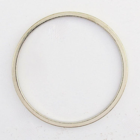 Metal 20mm flat rnd ring nkl 20pcs