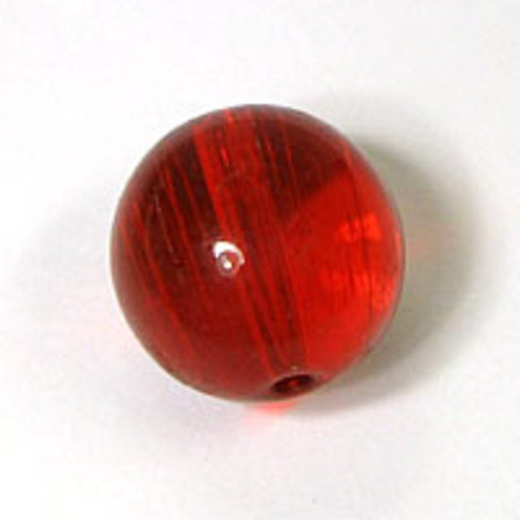 Cg 10mm rnd tiffany glass red 30p