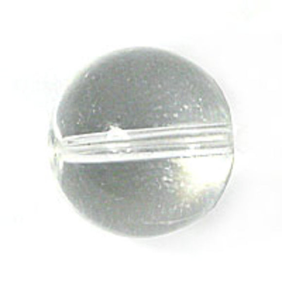 Cg 10mm rnd tiffany glass clear 30p