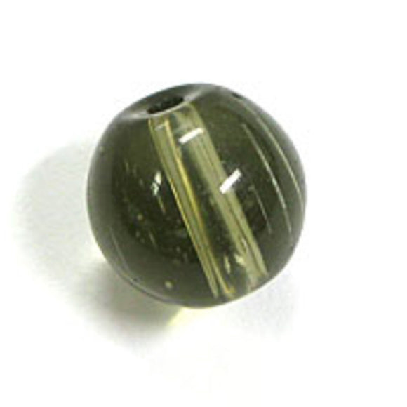 Cg 10mm rnd tiffany glass charcol 30p