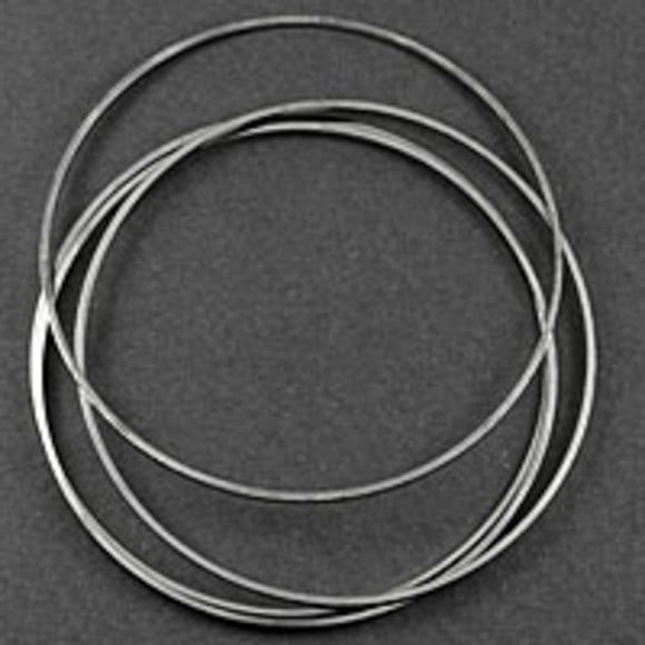 Metal 45mm rnd hoop nkl 10pcs