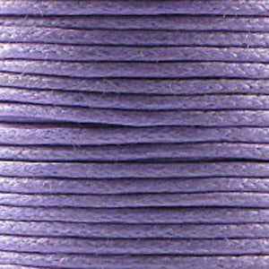 Cord .5mm waxed purple 25metres