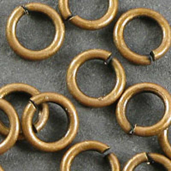 Metal 5x.9mm jump ring NF ant cop 150pcs