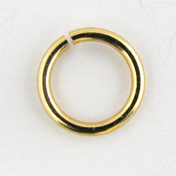 Metal 7x1.2mm jump NF gold 100pcs