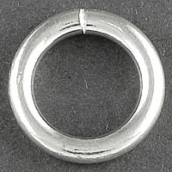 Sterling sil 12x2mm CLOSED jumpring 1pcs