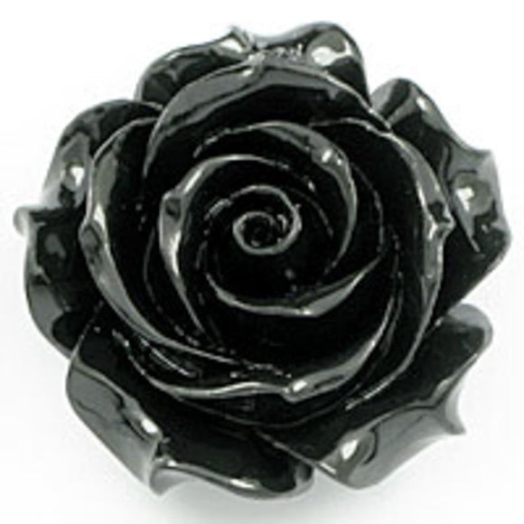 Rs 35mm rose pendant black 1pcs