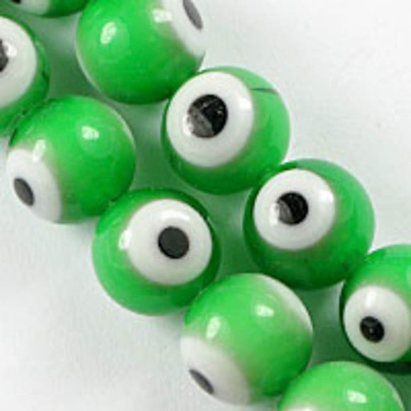 cg 10mm rnd eye green/whi 40pcs