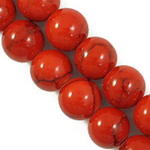 Semi prec 10mm rnd hlite red/blk 41pcs