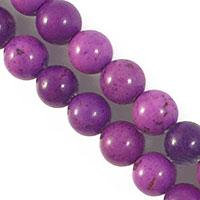 semi prec 6mm rnd howlite purple 60+pcs