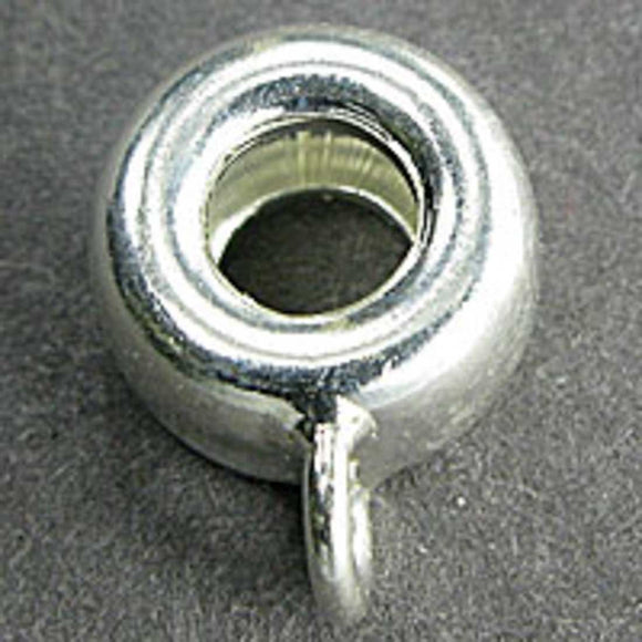 Sterling sil 8.5x5mm donut ring 1pc