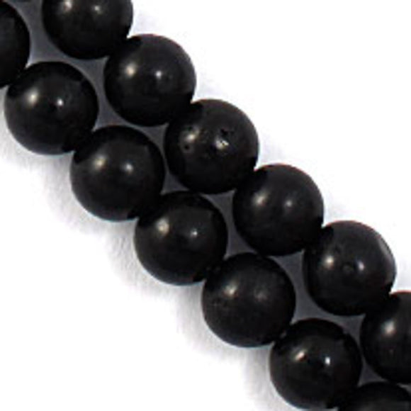 Semi prec 6mm rnd howlite black 65p