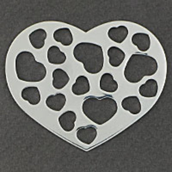 Metal 53mm heart/hrt cut out NF sil 2pc