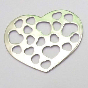 Metal 53mm heart/hrt cut out NF nkl 2pc