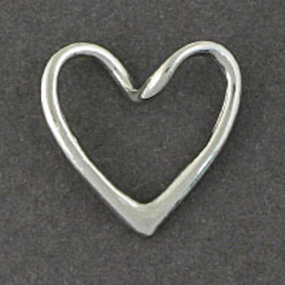 Metal 18mm heart hollow twist NF nkl 6pc