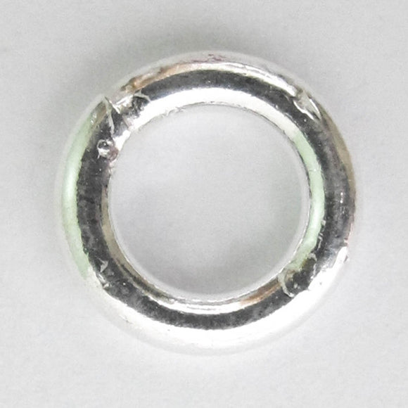 Sterling sil 10x2mm ring SOLDERED 2pcs