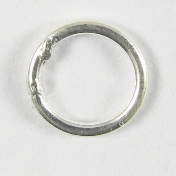 Sterling sil 6x.8mm ring SOULDERED 10pc