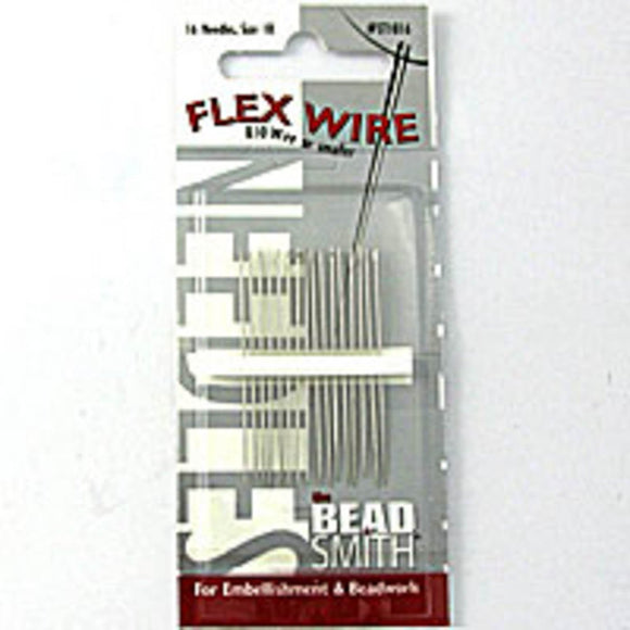 Beading needle size 10 (010 wire) 16pcs