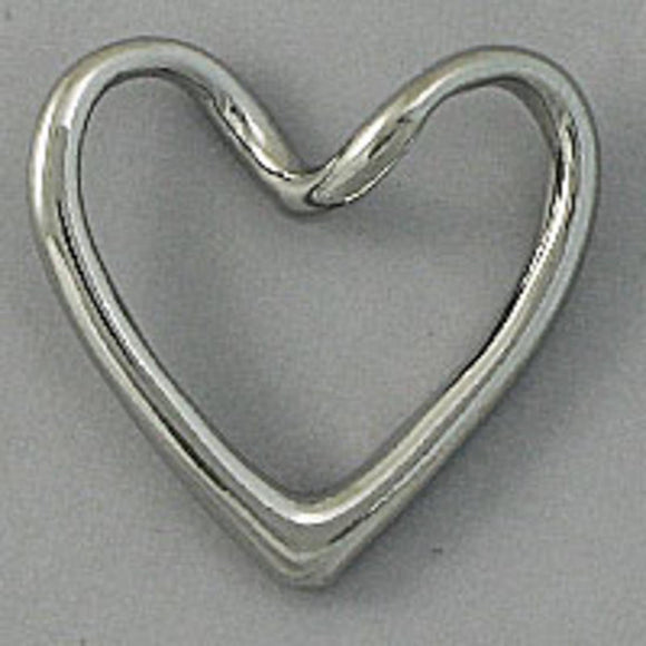 Metal 18mm heart hollow twist NF nk 20pc