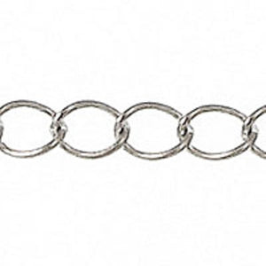 Metal chain 4x3mm curb link NKL 10mtr