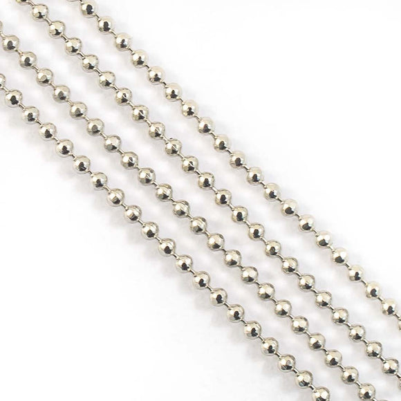 Metal chain 1.2mm faceted ball chain 3mt
