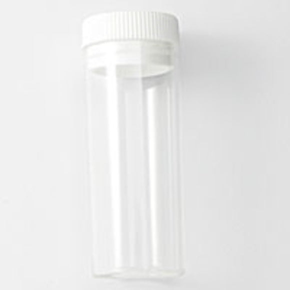 Plas 52x20mm vial clear/lid 5pcs