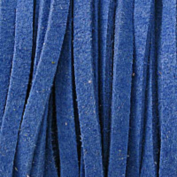 Faux suede 3mm flat periwinkle 16+metres