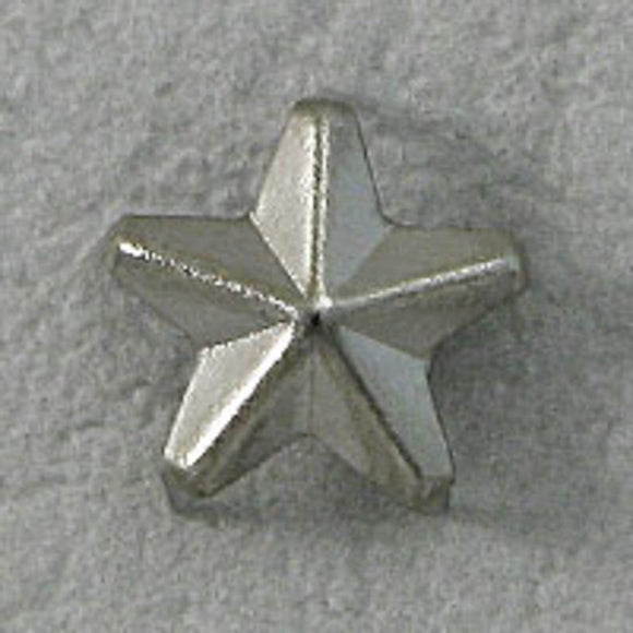 Metal 10mm fabric stud star nickel 50pcs