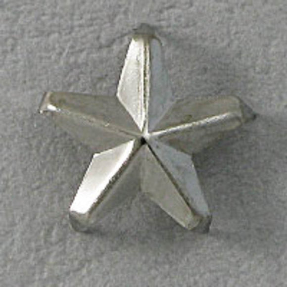 Metal 12mm fabric stud star nickel 40pcs