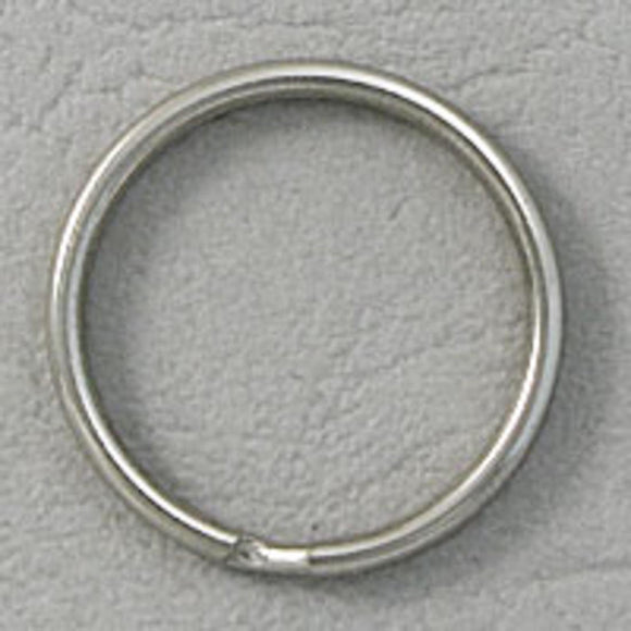 metal 25mm split ring nickel 10pcs