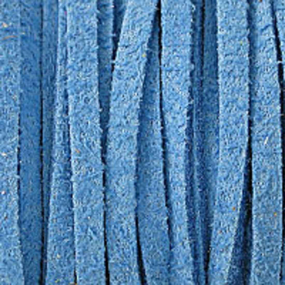 Faux suede 3mm flat sky blue 80metres