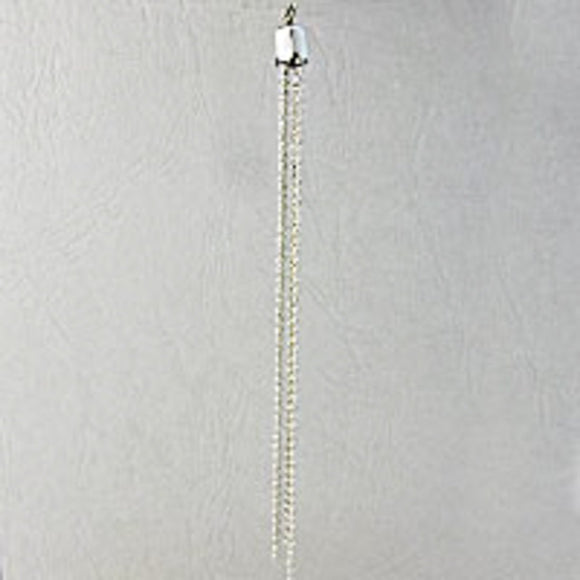 Metal 100mm tassel nickel 2pcs