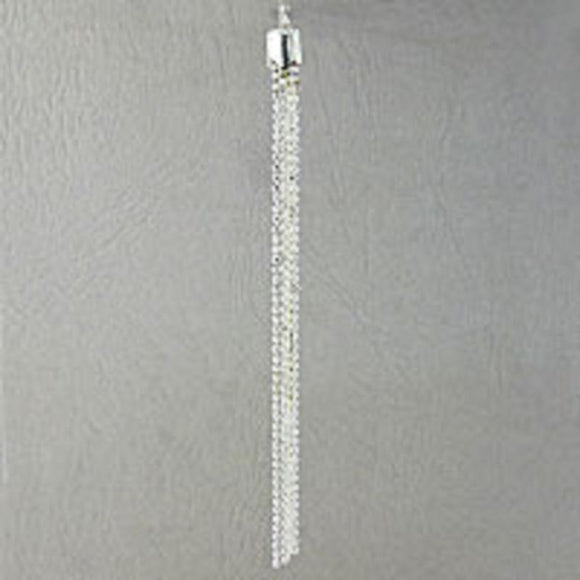 Metal 100mm tassel silver 2pcs