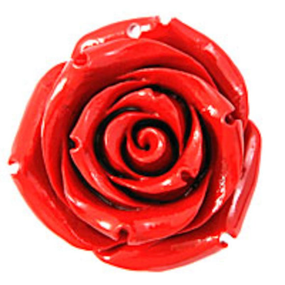Rs 35mm English rose pendant red 1p