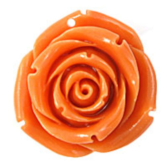 Rs 35mm English rose pendant melon 1p