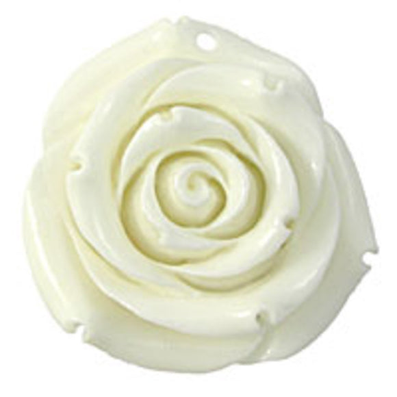 Rs 35mm English rose pendant white 1p