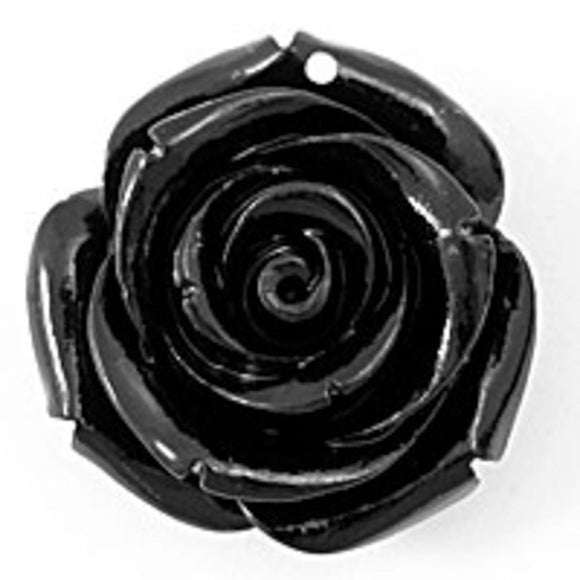 Rs 25mm English rose pendant black 2p