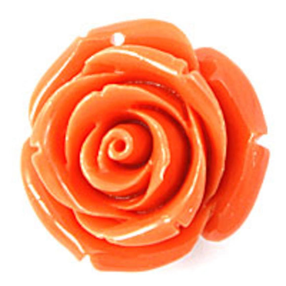 Rs 25mm English rose pendant melon 2p