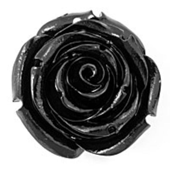 Rs 35mm English rose pendant black 1p