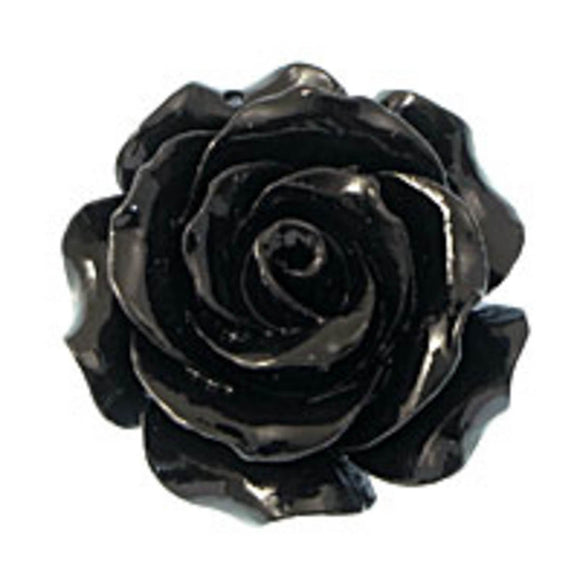 Rs 35mm Euro rose pendant black 1p