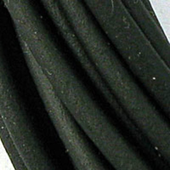Rubber 2mm hollow tubing black 4.5mtr