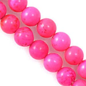 Semi prec 6mm rnd howlte hot pink 60p+