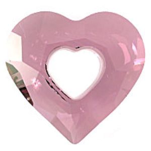Swarovski 17mm 6262 heart Antiq pink 1p