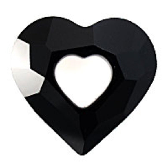 Swarovski 17mm 6262 heart jet 1pc