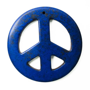 Semi prec 55mm peace faux howlite navy 2