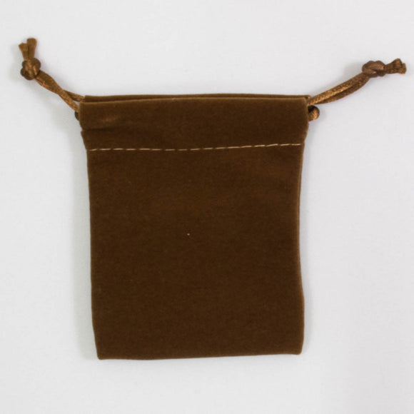 Suede pouch 90x70mm LUX latte 4pcs