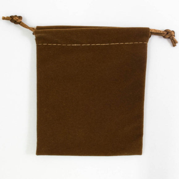 Suede pouch 110x100mm LUX latte 2pc
