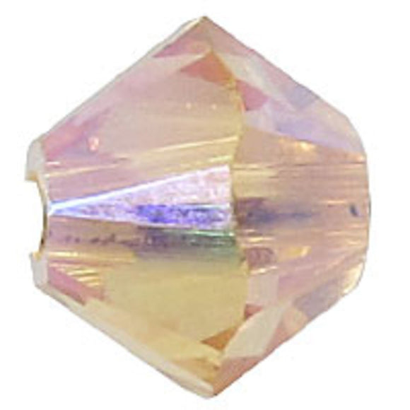 Swarovski 4mm 5328 light peach AB 2x 30p