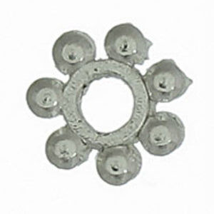 Metal 4mm dot spacer wheel sil 200pcs