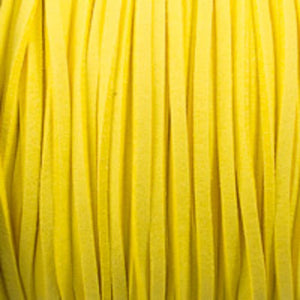 Faux suede 3mm flat yellow 80 metres